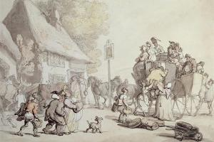 Outside the Inn by Thomas Rowlandson