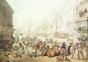 Portsmouth Point, 1811 by Thomas Rowlandson