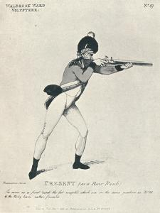 'Present (as a Rear Rank)', 1798 (1909) by Thomas Rowlandson