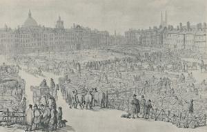'Smithfield Market, 1810', 1920 by Thomas Rowlandson
