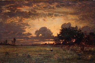 Sunset over the Plain of Barbizon