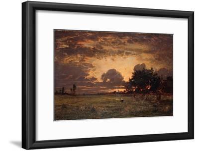 Sunset over the Plain of Barbizon