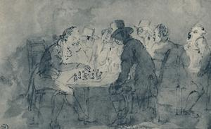 'The Chess Players', 1948 by Thomas Rowlandson