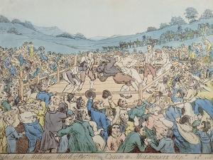 The Last Milling Match Between Cribb and Molineaux, September 28th 1811 by Thomas Rowlandson