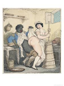The Negro Footman and the Milkmaid by Thomas Rowlandson