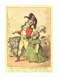 The Successful Fortune Hunter, 1812, Hand-Colored Etching, Gift of Addie Burr Clark by Thomas Rowlandson