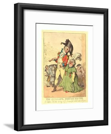 The Successful Fortune Hunter, 1812, Hand-Colored Etching, Gift of Addie Burr Clark
