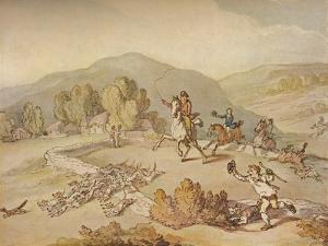 'The Village Hunt', c1800, (1922) by Thomas Rowlandson