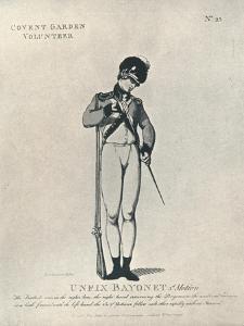 'Unfix Bayonet 3rd Motion', 1798 (1909) by Thomas Rowlandson