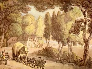 Woolpack Inn Hungerford watercolour by Thomas Rowlandson
