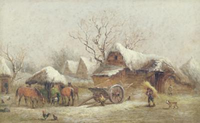A Winter Farmyard Scene
