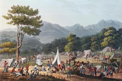 Troops Bivouacked Near Villa Velha, Engraved by C. Turner, 19th May 1811 by Thomas Staunton St. Clair