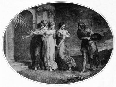 Prudence, Piety, Charity and Discretion inviting Christian into the Palace Beautiful', 1789
