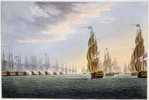 Battle of the Nile, August 1st 1798 (1816) by Thomas Sutherland