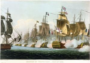 Battle of Trafalgar, October 21st 1805 (1816) by Thomas Sutherland