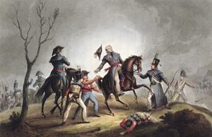 Death of Sir John Moore, La Coruna, Spain, 17th January 1809 (1815) by Thomas Sutherland