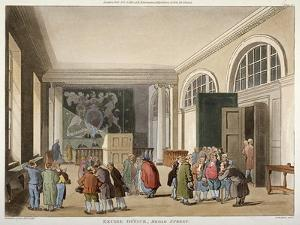Interior of the Excise Office, Old Broad Street, City of London, 1810 by Thomas Sutherland