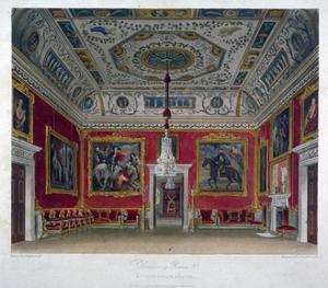 Interior View of the Drawing Room in Buckingham House, Westminster, London, 1817 by Thomas Sutherland