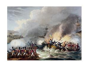 'Landing of the British Troops in Egypt, March 1801', 1815 by Thomas Sutherland