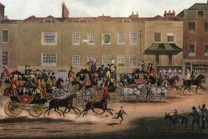 North Country Mails at the Peacock, Islington, 1823 by Thomas Sutherland