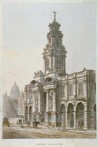 South-East View of the Royal Exchange's South Front, City of London, 1812 by Thomas Sutherland