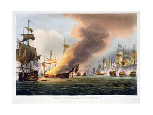 The Battle of Trafalgar, 21st October 1805 (1816) by Thomas Sutherland