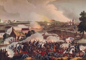 'The Centre of the British Army in Action at the Battle of Waterloo', 19th century (1909) by Thomas Sutherland