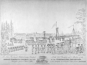 View of the London Gymnastic Society Gymnasium, Pentonville, London, 1826 by Thomas Sutherland