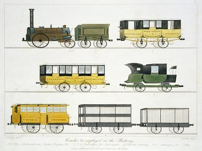 "Coaches Employed on the Railway, Plate 7 from ""Liverpool and Manchester Railway"""