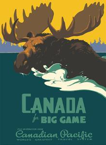 Canada for Big Game - Canadian Pacific Railway by Thomas (Tom) Hall