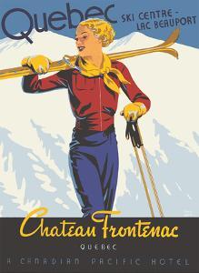 Québec - Château Frontenac - Ski Resort - Canadian Pacific Hotel by Thomas (Tom) Hall