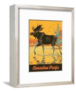 Visit Canada - Bull Moose - Canadian Pacific Railway by Thomas (Tom) Hall