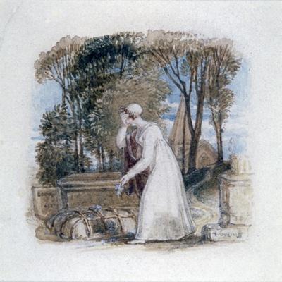 'Constantia at the Grave of Theodosius', 19th century