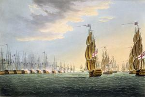 "Battle of the Nile, August 1st 1798, for J. Jenkins's ""Naval Achievements"" by Thomas Whitcombe"