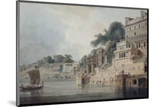 Dasasvamedha Ghat, Benares (Varanasi), Uttar Pradesh by Thomas & William Daniell