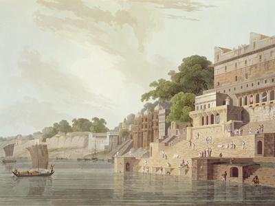 Dusasumade Gaut, Benares, River Ganges, Oriental Scenery: Twenty Four Views in Hindoostan, 1796