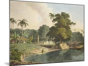 Near Bandell on the River Hoogly, Plate Viii from Part 6 of 'Oriental Scenery', Pub. 1804 by Thomas & William Daniell