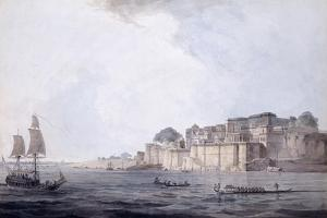 Ramnagar, Near Benares [Varanasi], Uttar Pradesh, C. 1788-9 (Pencil, Pen and Black Ink, W/C) by Thomas & William Daniell