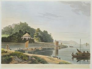 Siccra Gully on the Ganges, Plate IX from Part 6 of 'Oriental Scenery', Pub. 1804 by Thomas & William Daniell