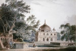 The Mausoleum of Prince Khusrau, Allahabad, Uttar Pradesh, (Pencil and W/C) by Thomas & William Daniell