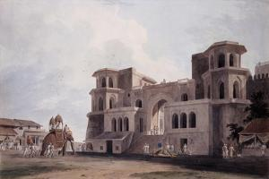 The Panch Mahal Gate, Lucknow, Uttar Pradesh, C. 1789 (Pencil, Pen, Brown and Black Ink, W/C) by Thomas & William Daniell