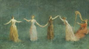 Summer, 1890 by Thomas Wilmer Dewing