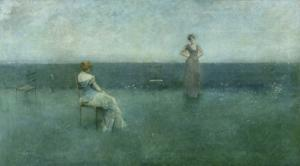 The Recitation, 1891 by Thomas Wilmer Dewing