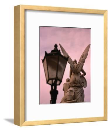 Angel Statue on Schlossbrucke Bridge, Berlin, Greater Berlin, Germany