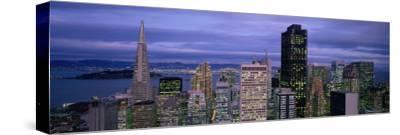 City Skyline at Dusk, San Francisco, California, USA