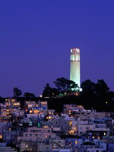 Coit Tower, Telegraph Hill at Dusk, San Francisco, U.S.A. by Thomas Winz