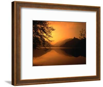 Sunset Reflecting on the Alpsee, Bavaria, Germany