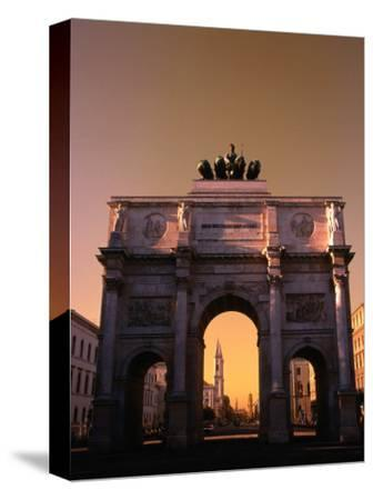 The Victory Gate Siegestor Built (1843-52)On Ludwigstrasse, Munich, Bavaria, Germany