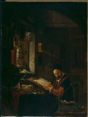 Writer in His Study