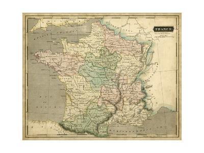 Thomson's Map of France-Thomson-Art Print